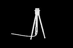 Tripod table white