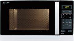 R742INW Sharp mikroovn 25 liter grill sølv