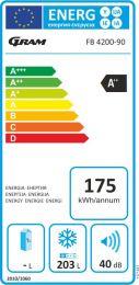 FB 4200-90/1 Fryseboks, 182 liter, Display, A++/E, 2 kurve,